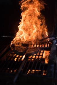 At The Scioto Ribber, steaks are smoked on one of nine smokers, five of which are consistently smoking meat.