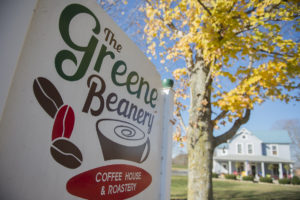 The inviting atmosphere that used to house guests as a bed and breakfast is now The Greene Beanery, welcoming community members in pursuit of their morning coffee.