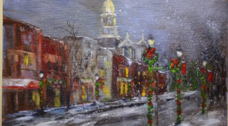 Regional artist brightens Belmont County Juvenile Court with local landmark paintings