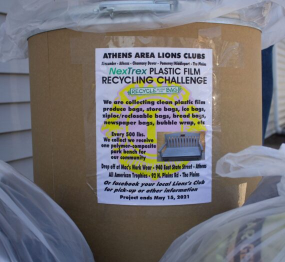 The Plains Lions Club Bags to Benches Project