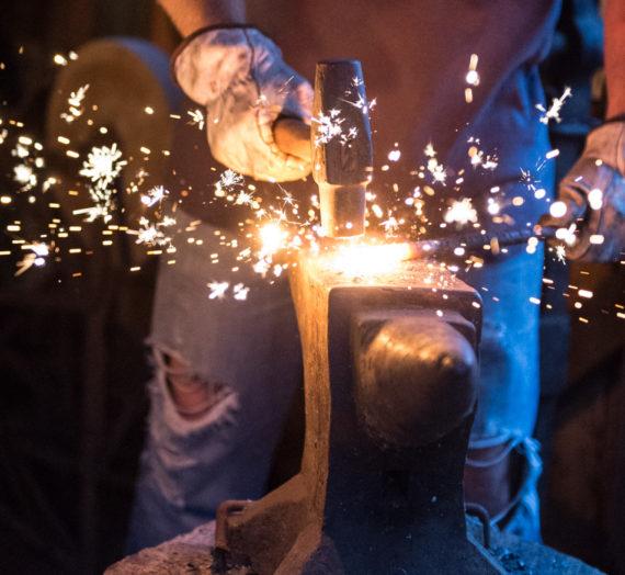 Blacksmith artisan is old-school cool